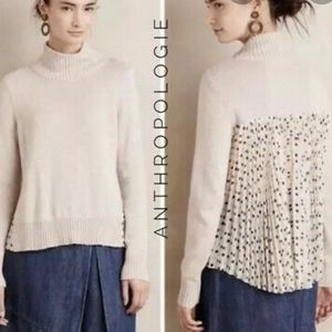 Moth Anthropologie Cashmere Chiffon Dot Sweater S